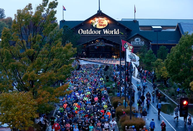 Thousands of participants set out at the start of the 2018 Bass Pro Conservation Marathon and Cohick Half Marathon on Sunday, Nov. 4, 2018.