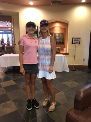Winners of the first gross score at the 19th annual Kokopelli Klassic, Ali Mulhall (left) and Robin Reed (right).