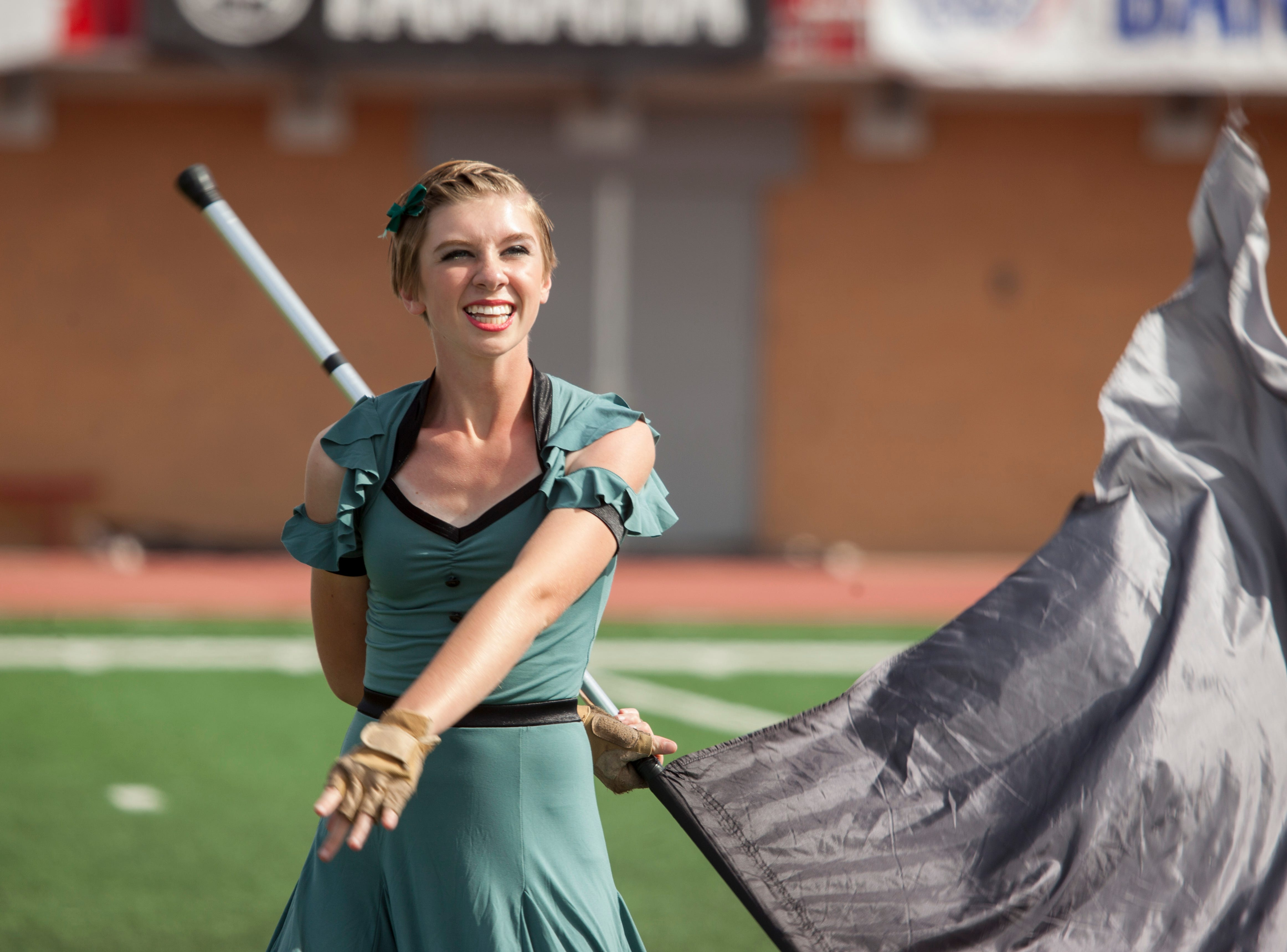 Bands compete at the Bands of America Championships at Trailblazer Stadium Saturday, Oct. 27, 2018.
