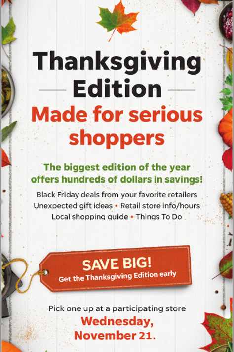 Thanksgiving early edition ad