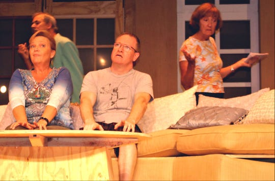 """The Game's Afoot"" cast, L-R: Eric Jones, Eleanor Dixon, Jason Avery, Martha Kelly."