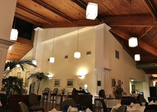 Inside Pietro's on the River at The Island Dunes Country Club on Hutchinson Island.