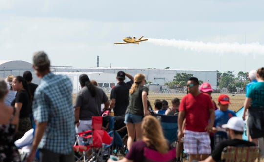 The third and final day of the Audi Stuart Air Show was held on Sunday, November 4, 2018, at Witham Field in Stuart.  The event, which attracts thousands of visitors each year, includes aerobatics, precision flying, parachute demonstrations, static aircraft displays, military reenactments, weapons demonstrations and a variety of activities for children.