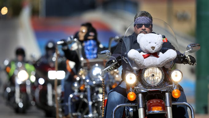 Thousands Of Bikers With The El Paso Motorcycle Coalition Strapped