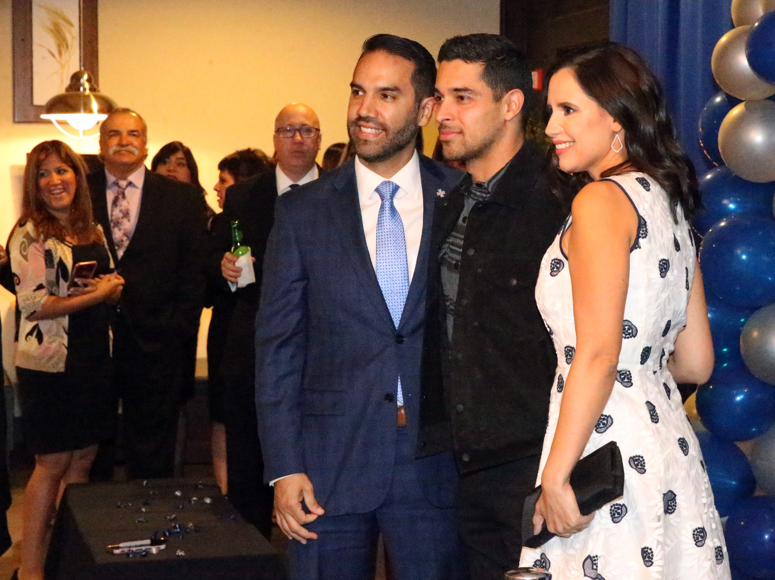Actor/producer Wilmer Valderrama, center, poses with El Pasoans Nicholas and Elena Tejeda during a reception at the 28th El Paso Hispanic Chamber of Commerce annual Fiesta Celebration Saturday night at the Centennial Banquet and Conference Center at Fort Bliss.