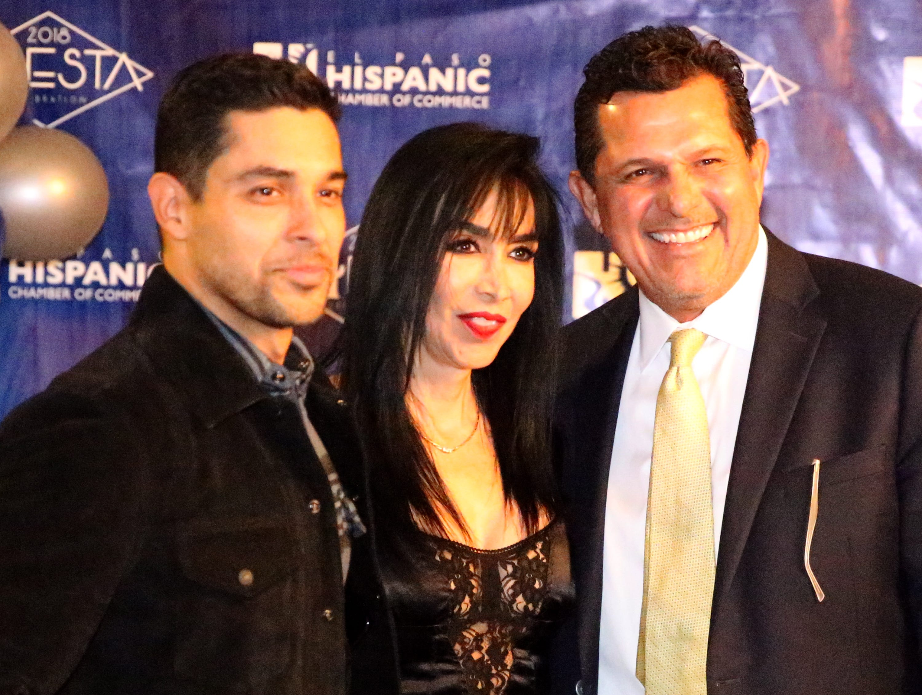 Actor/producer Wilmer Valderrama, left, poses for a picture with Martha Couttolenc, center, and David Candelaria Saturday at the El Paso HIspanic Chamber of Commerce 28th Fiesta Celebration Saturday.