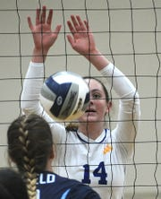 Lauren Dingman and the Nordhoff girls volleyball team are eager for another shot at Linfield Christian in a CIF-Southern Section final Saturday night.