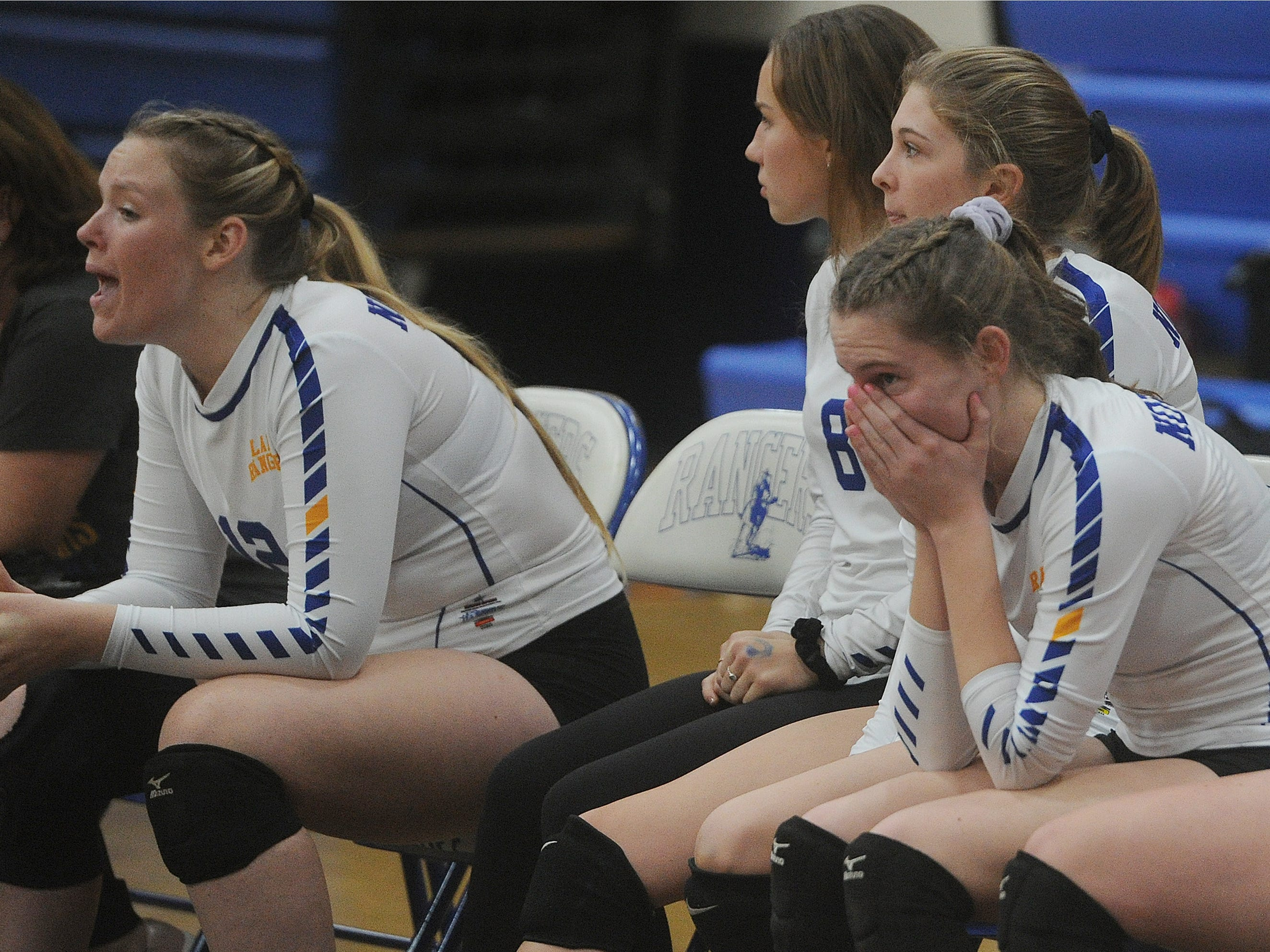 The Nordhoff bench watches the closing moments of a 3-1 loss to Linfield Christian in the CIF-SS Division 7 final Saturday.