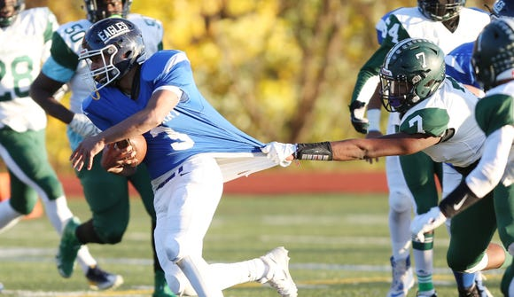 Dobbs Ferry defeated Woodlands to win the Section 1 Class D championship game at Mahopac High School Nov. 3,  2018.