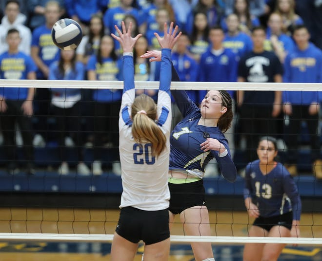 Ardsley defeats Pearl River 3-0 to claim the girls class B volleyball section title at Pace University in Pleasantville on Sunday, November 4, 2018.