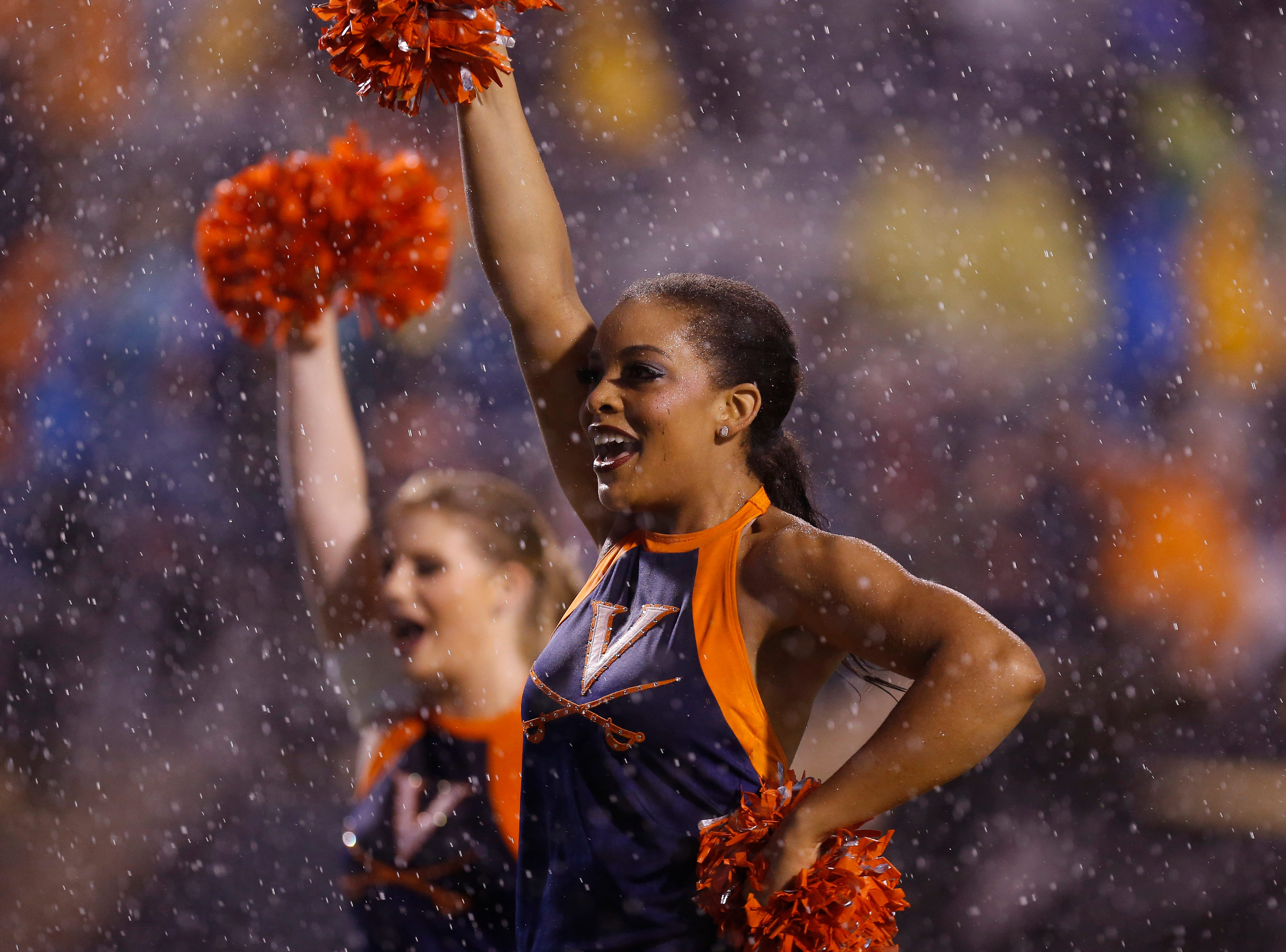 Week 10: Members of the Virginia Cavaliers dance team perform on the field prior to the Cavaliers' game against the Pittsburgh Panthers at Scott Stadium.