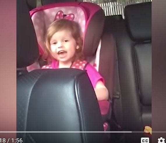 """Holly Lee, 3, of Scotland, learned """"Bohemian Rhapsody"""" from her mother because it was the only song she knew all the words to."""