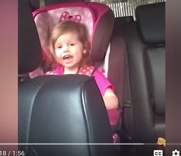 "Holly Lee, 3, of Scotland, learned ""Bohemian Rhapsody"" from her mother because it was the only song she knew all the words to."