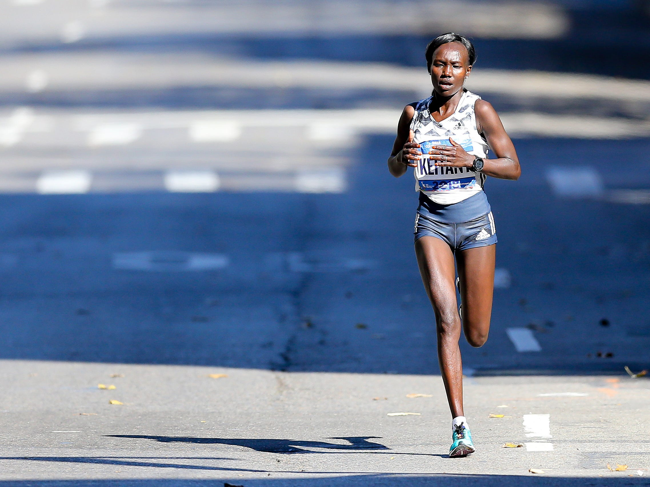 Mary Keitany of Kenya wins the 2018 TSC New York City Marathon, finishing more than 3 minutes ahead of Vivian Cheruiyot, who was second.