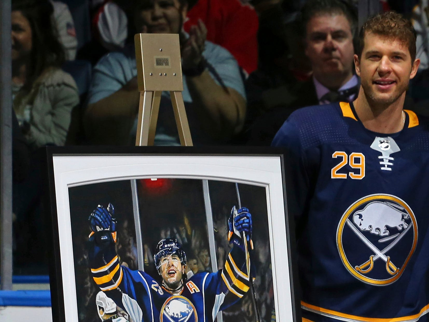 Nov. 3: Buffalo's Jason Pominville, honored before Saturday's game for playing in his 1,000th game, gets two goals and an assist in his 1,001st game, a 9-2 rout of the Senators.