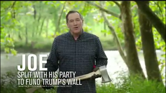 Screenshot of campaign ad for Sen. Joe Donnelly, D-Ind.