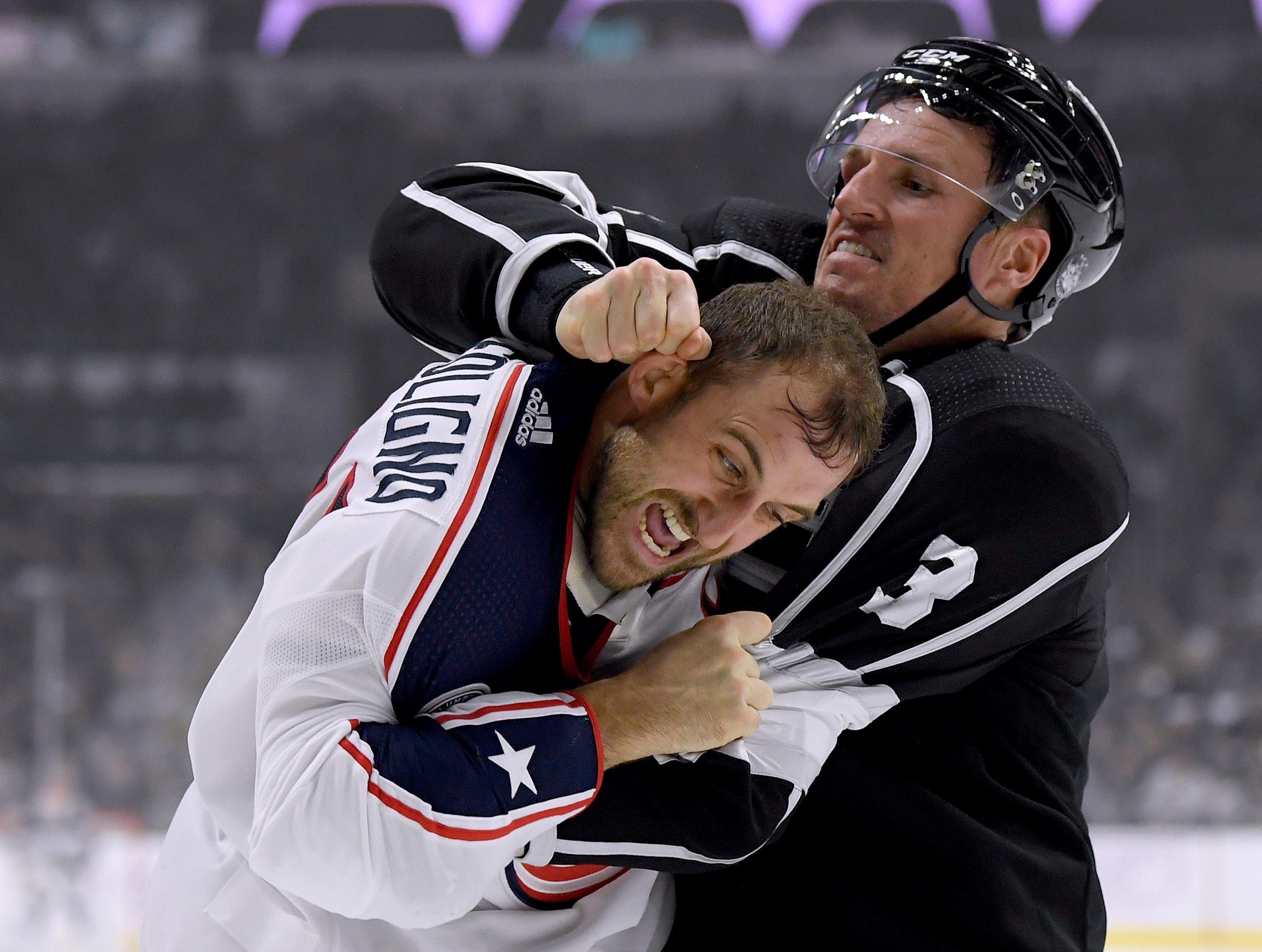 Nov. 3: Blue Jackets' Nick Foligno vs. Kings' Dion Phaneuf.