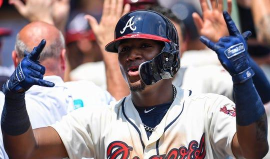 Braves outfielder Ronald Acuna Jr. hit 26 home runs.