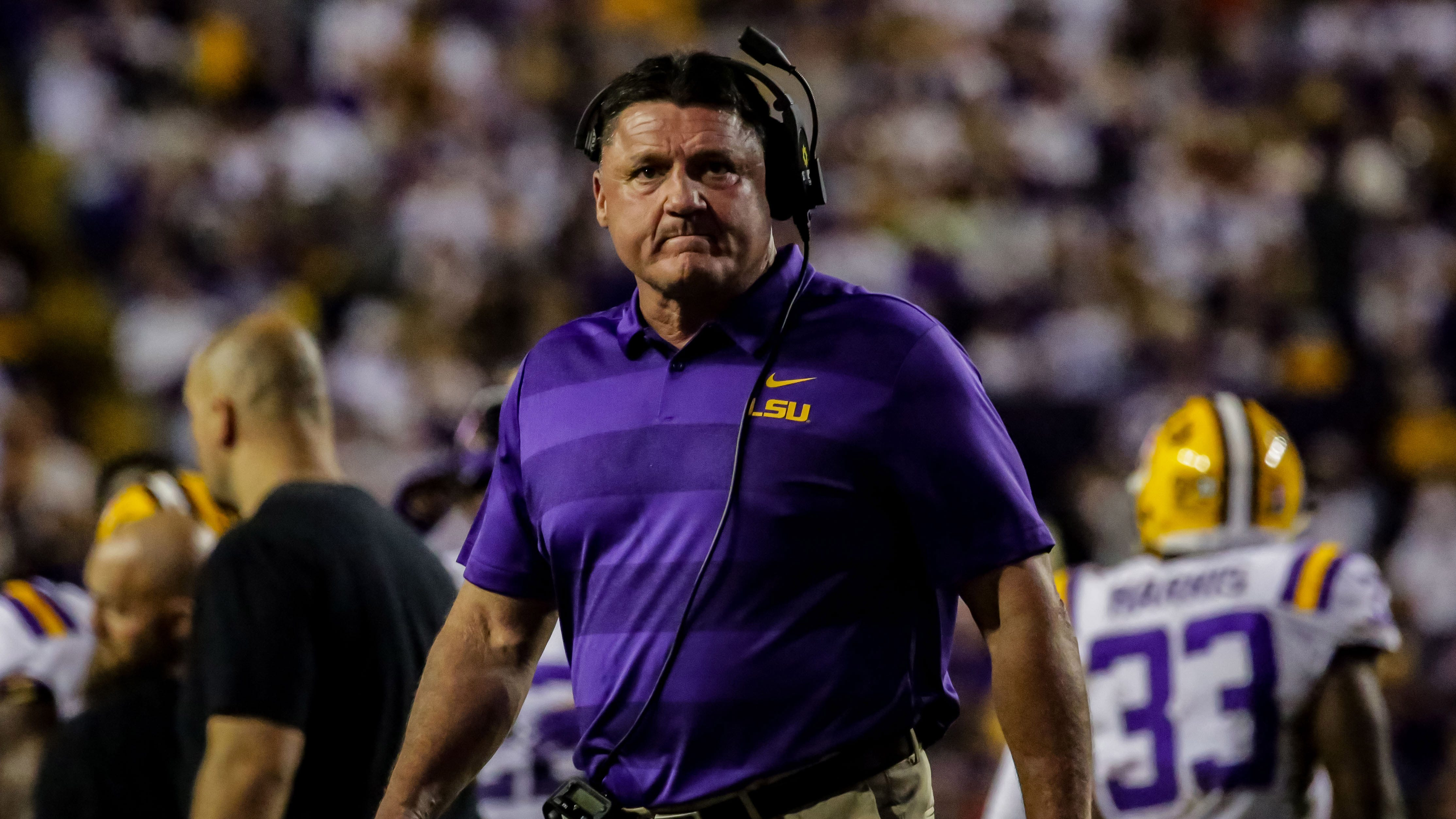 Misery Index Ed Orgeron Says Lsu Needs More Talent To Beat Alabama