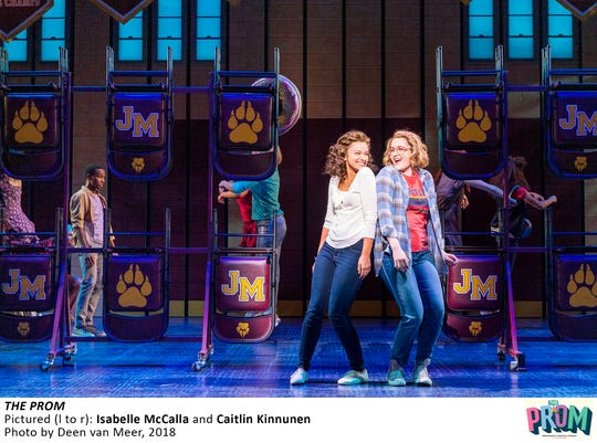 """Isabella McCalla and Caitlin Kinnunen in """"The Prom"""" on Broadway."""