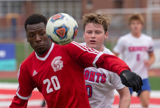 Ocean Township Boys Soccer shuts out Wall in NJSIAA Central Group III boys soccer semifinal in Ocean Township on November 5, 2018.