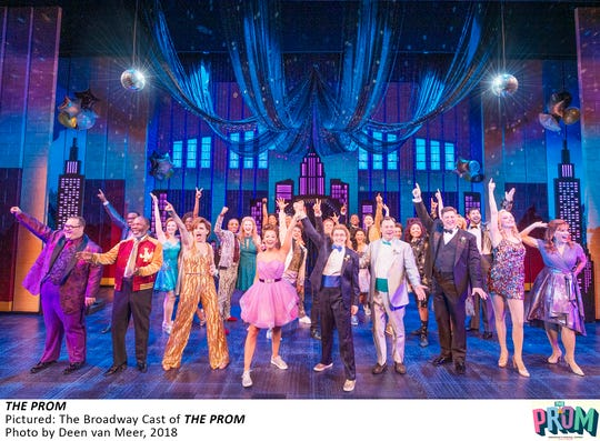 """The cast of """"The Prom"""" on Broadway."""