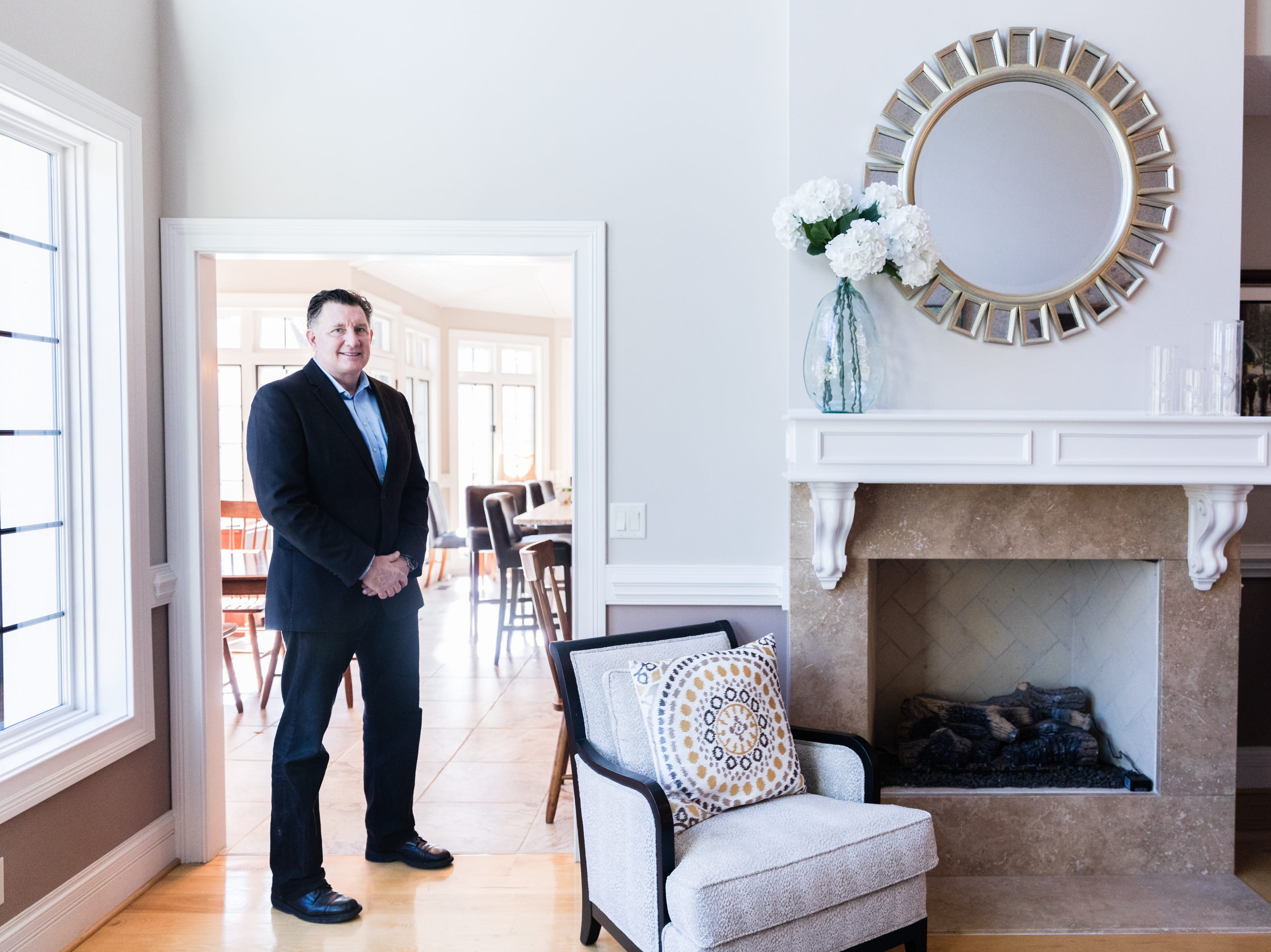 David Dudick, CEO of Plano Synergy, at his country estate in Fletcher which is on the market for $2.9 million.