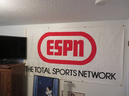 Mike's Man Cave / Office makes room for this banner.