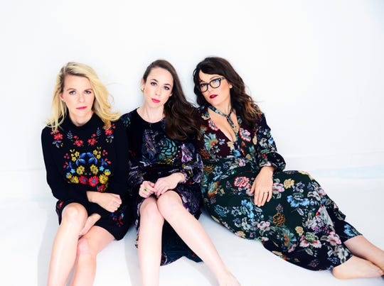 """I'm With Her (left to right, Aoife O'Donovan, Sarah Jarosz and Sara Watkins) began performing under that name before the phrase """"I'm With Her"""" became associated with the 2016 presidential campaign of Hillary Clinton."""