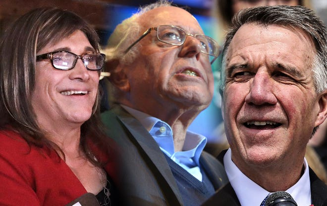 Election night coverage with Bernie Sanders, Christine Hallquist and Phil Scott.