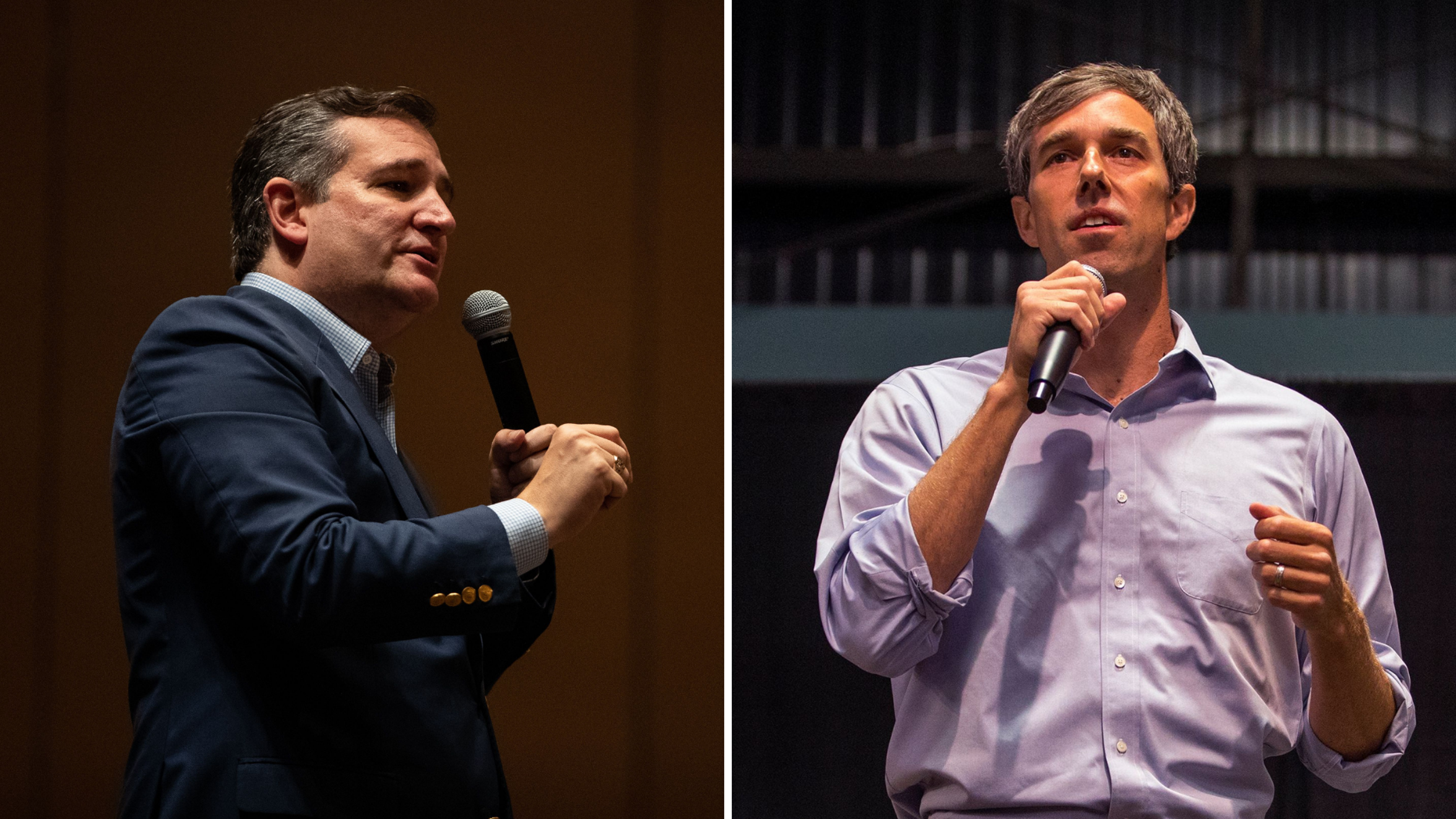 U.S. Senator Ted Cruz (left) and U.S. Rep. Beto O'Rourke (right) competed for Texas U.S. Senate seat. Cruz emerged the winner..
