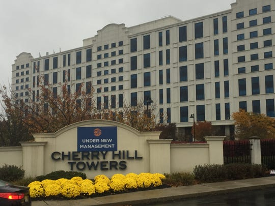 Police are investigating the shooting of a woman Sunday night at the Cherry Hill Towers on Route 38.
