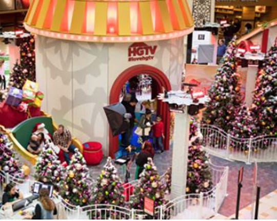 HGTV's elaborate Santa HQ comes to the Deptford Mall this season.