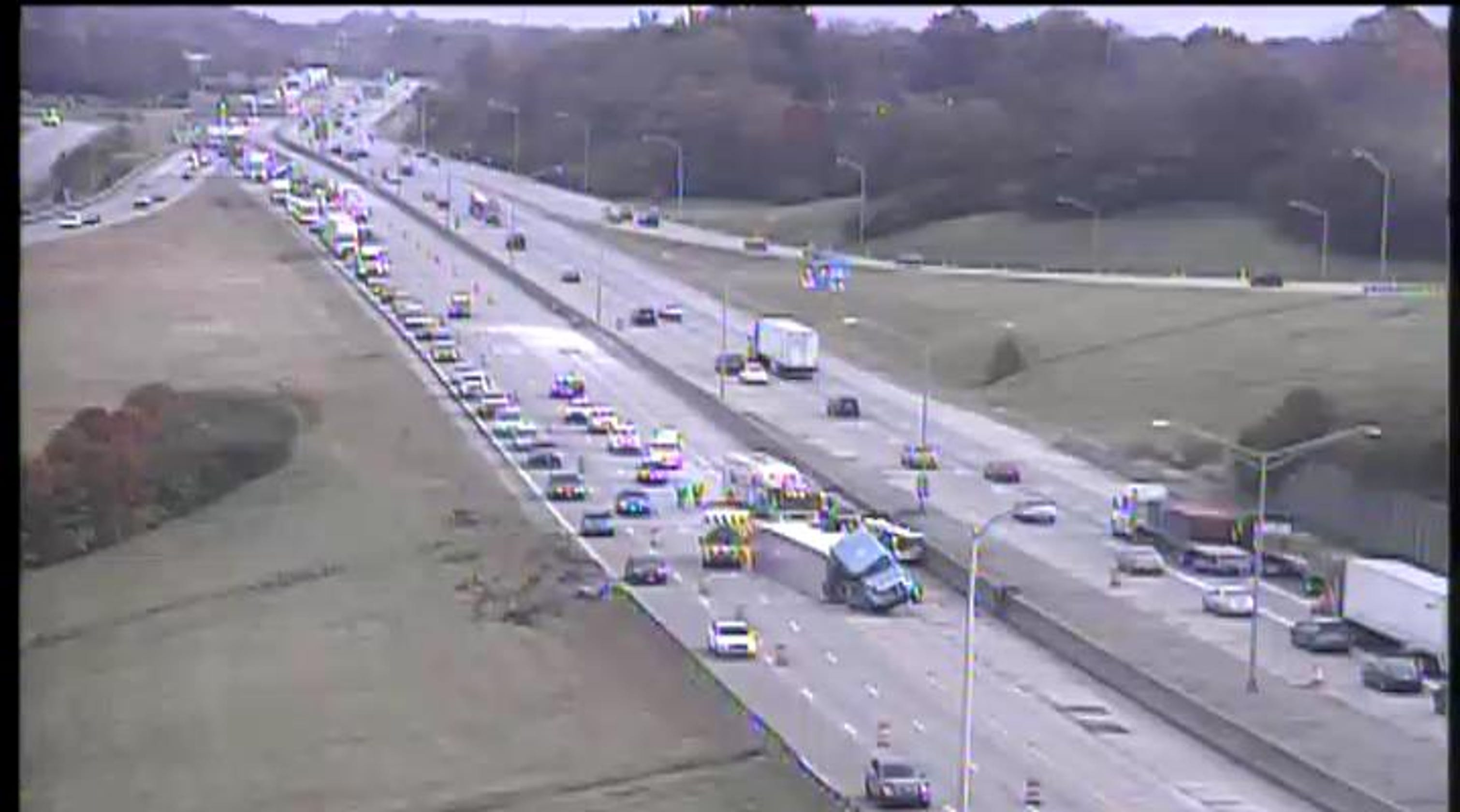 Crash on southbound I-71/75 near I-275 in NKY could take 4