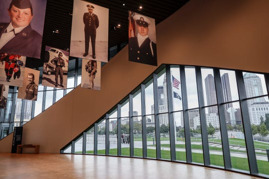 The interior of the National Veterans Memorial and Museum is seen during a limited media availability, Monday, Oct. 15, 2018, in Columbus, Ohio. A sweeping new museum in America's heartland honors the unifying experiences of U.S. military veterans outside the traditional trappings of military museums and war memorials.