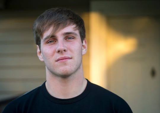 Tanner Allford, a senior at Monroe High School, lost his girlfriend in a crash on prom night. He still remembers the look on Kaylie Jackson's face before she was ejected from the car as it veered off the road in Liberty Township on April 27.