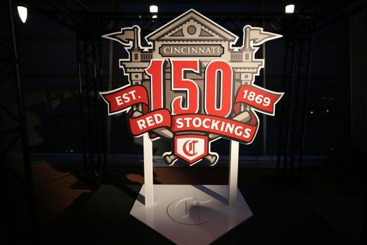 Cincinnati Reds 150th Season Logo Accouncement Nov 5