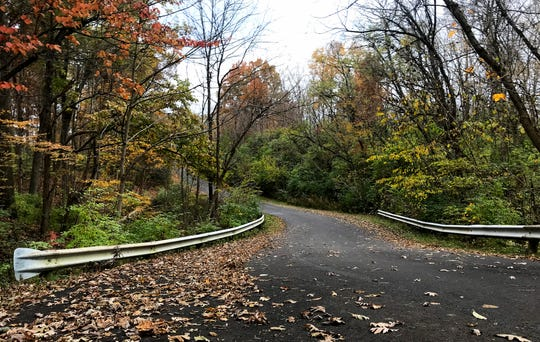 Fall colors are vivid at  Winton Woods Park Sunday, November 4, 2018.