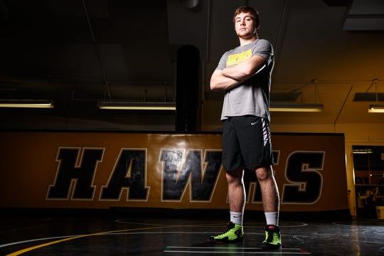 Jacob Warner stands for a portrait during Iowa wrestling media day Monday, Nov. 5, 2018.
