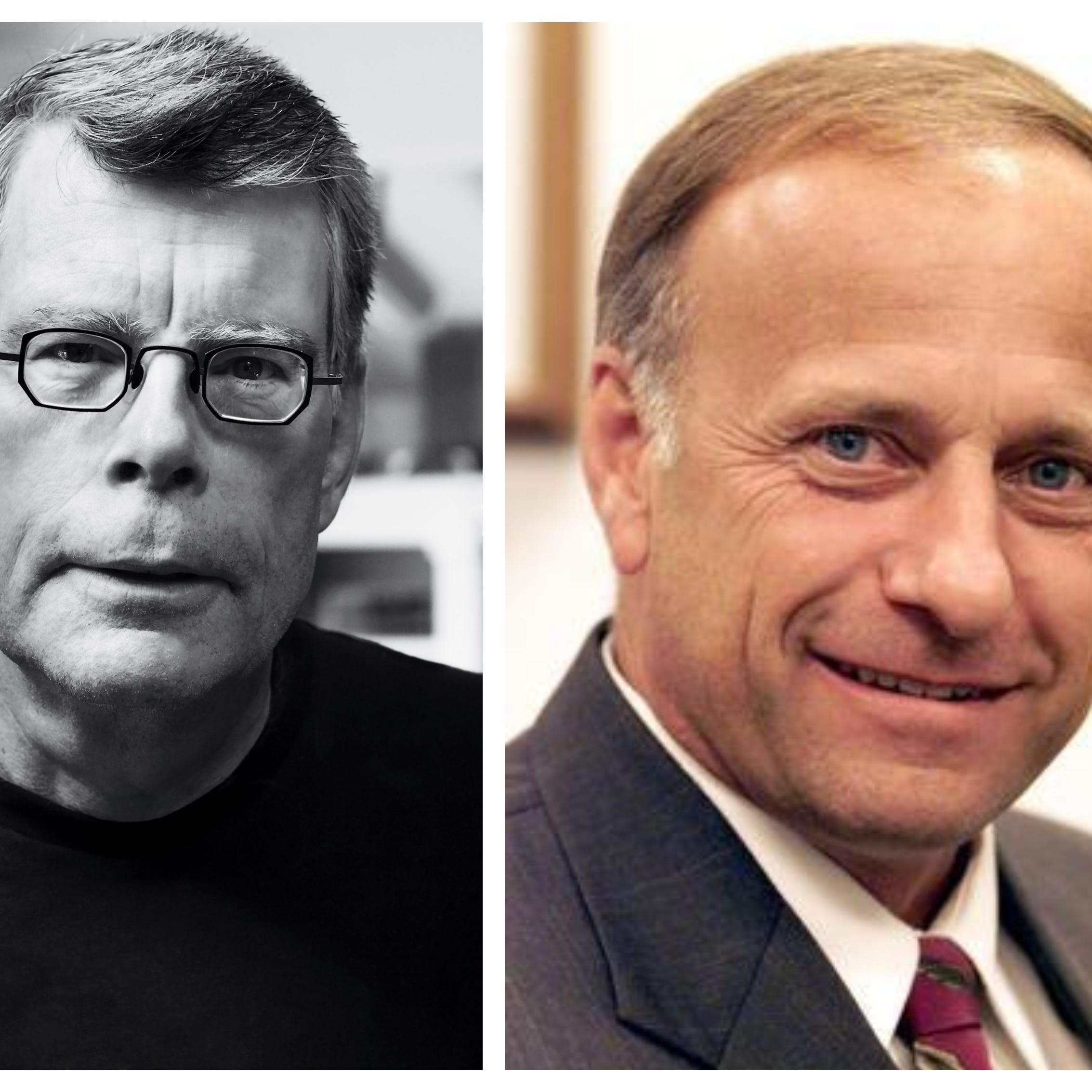 Stephen King wants Iowans to know he's tired of being confused with Steve King