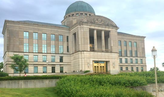 The Iowa Judicial Branch building, which houses the Iowa Supreme Court