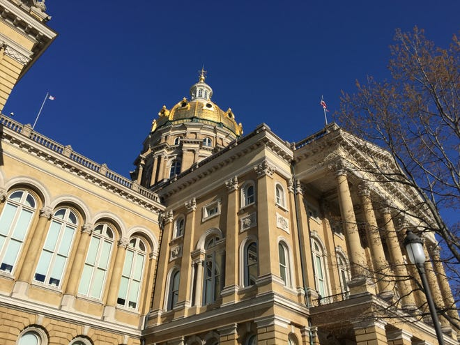 The Iowa Capitol in Des Moines