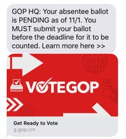 An example of a problematic text to Iowa voters