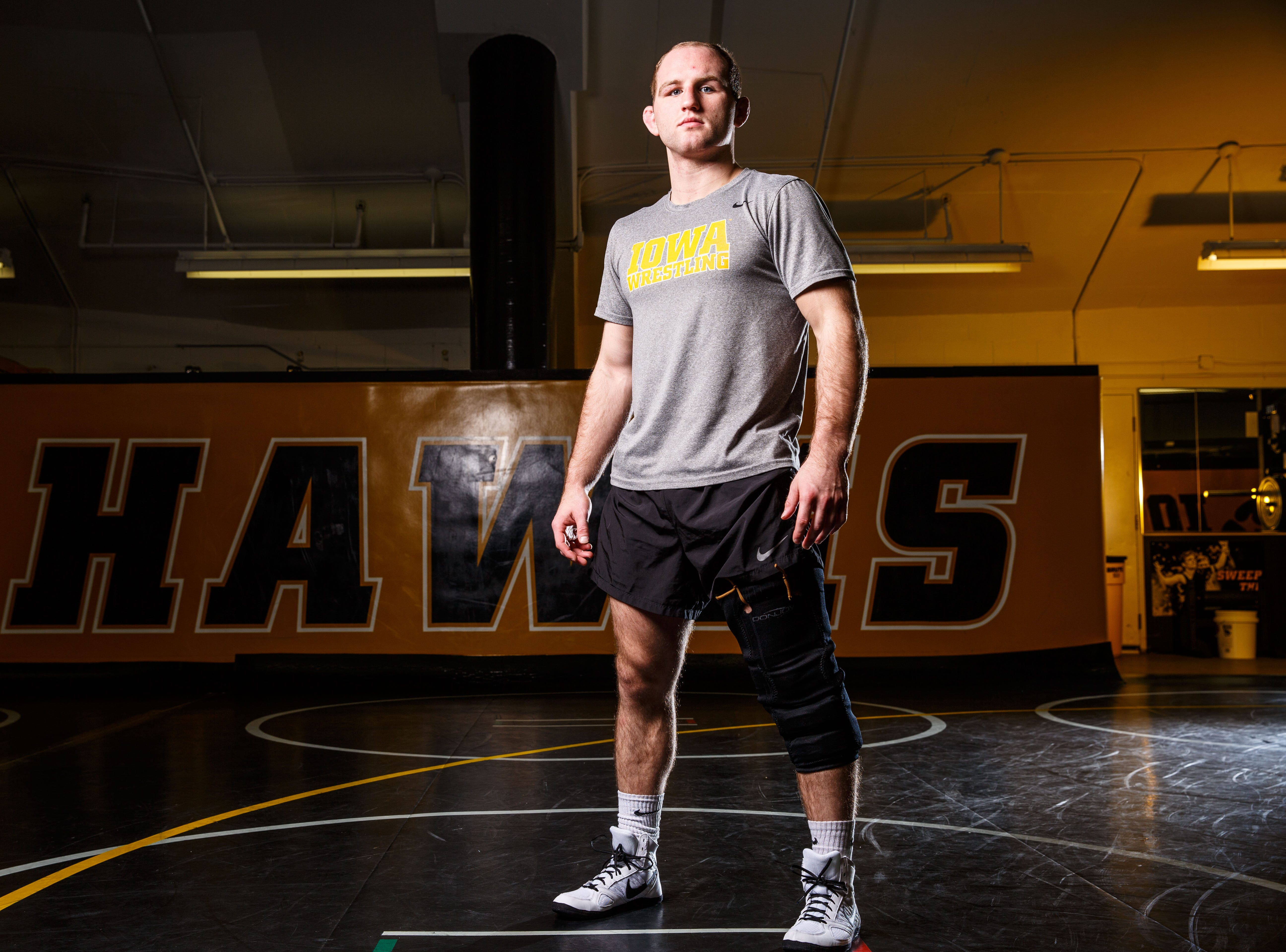 Alex Marinelli stands for a portrait during Iowa wrestling media day Monday, Nov. 5, 2018.