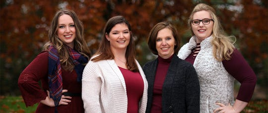 Lerynne West, second from right, and her daughters appear in an undated photo on the Callum Foundation website.