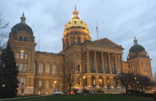 Iowa Capitol Morning Lights