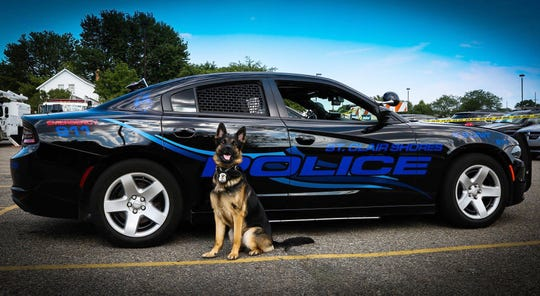 Axe, a St. Clair Shores K-9, was killed in the line of duty after he was shot by a suspect during an incident in St. Clair Shores on Sunday, November 4, 2018.