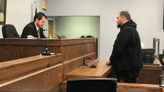 Frederic Hyde in Newaygo County District Court on Monday, Nov. 5, 2018. Hyde is charged with four counts of criminal sexual conduct with a 13-year-old girl.