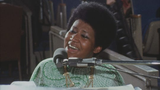 "Aretha Franklin as seen in the gospel film ""Amazing Grace"""