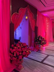 The vibrantly colored decor at the DIA Gala.